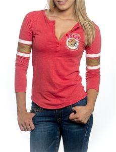 Women's San Francisco 49ers Nike White Boyfriend Pocket T-Shirt