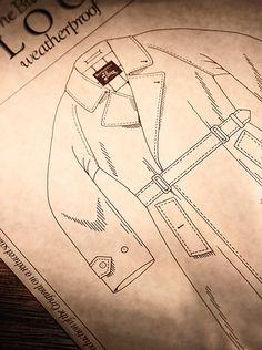 The forerunner to the trench coat, the Burberry Tielocken, was patented in 1912 and re-released in 1984 - it kept its unique buckle strap closure but was updated with additional buttons