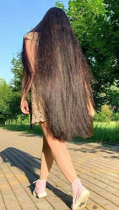 Loose Hairstyles, Pretty Hairstyles, Very Long Hair, Aesthetic Hair, Silky Hair, Beautiful Long Hair, Dream Hair, Beauty Full Girl, Hair Beauty