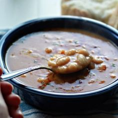 Bean without Bacon Soup - A smoky and comforting vegetarian riff on the condensed canned classic.