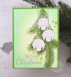 Christmas Cards 2017, Homemade Christmas Cards, Stampin Up Christmas, Homemade Cards, Handmade Christmas, Holiday Cards, Silver Christmas, Christmas Bells, Christmas Mantles