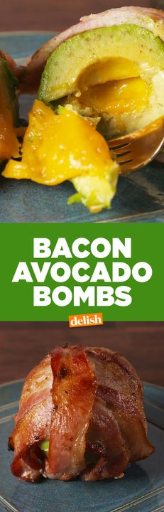 These Bacon Avocado Bombs are the low-carb answer to your comfort food cravings. Get the recipe from Delish.com.