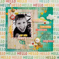 Layout by Diane from {a flair for Buttons} using Simple Stories Summer Vibes