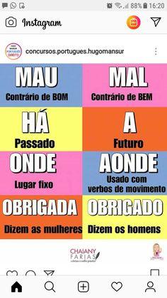 Portuguese Grammar, Learn Portuguese, Note Taking Tips, Life Hackers, German Language Learning, Bullet Journal School, Study Planner, Teaching Methods, Lettering Tutorial