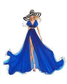 sampling of custom bridal illustrations, custom illustrations, and fashion prints