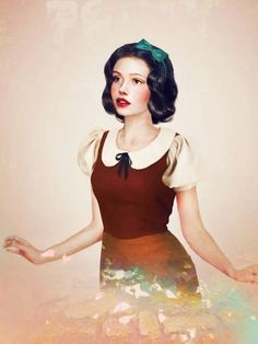 real life disney characters by jirka vaatainen, combining photo compositing and digital painting. belle femme!