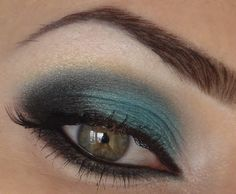 Turquoise Black...minimize the highlighting and you have a dramatic eye...