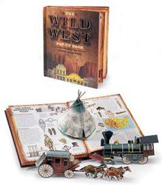 wild west pop up book