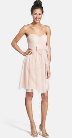 Convertible bridesmaid dress by Jenny Yoo - Can be artfully wrapped and tied over the bodice to create a variety of elegant looks