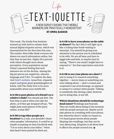 New rules of etiquette just for your smartphone, from Emily Post's great-great-granddaughter