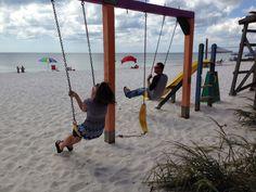 Beach playground at Toucans restaurant in Mexico Beach near Cape San Blas, Florida.