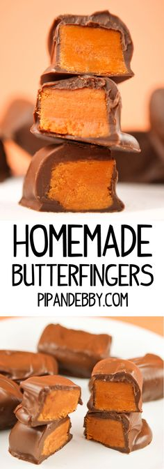 Homemade Butterfinger Candy Bars – These taste just like the original and you will be surprised how easy they are to make. Made with CANDY CORN! Homemade Butterfinger Candy B Just Desserts, Delicious Desserts, Dessert Recipes, Holiday Baking, Christmas Baking, Homemade Christmas Candy, Handmade Christmas, Diy Christmas, Homemade Butterfingers