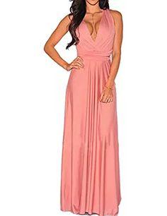 Women's Convertible Wrap Multi Way Party Long Maxi Dress