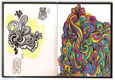 sketchbook art - Bing Images Sketchbook Inspiration, Art Sketchbook, Book Crafts, Bing Images, Sketchbooks, Artwork, Patterns, Google, Block Prints