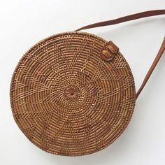 A beautiful round woven bag, a perfect accessory for any outfit. Free delivery on orders of or more. Prada Handbags, Purses And Handbags, Custom Purses, Key Bag, Basket Bag, Summer Bags, Ethical Fashion, Fashion Bags, Fashion Ideas