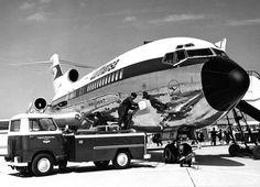 A big shiny bird - Lufthansa Boeing B727