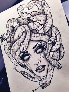 Gorgon Enire, not Medusa, but one of her cousins  .-Gorgon Enire, nicht Medusa, sondern eine ihrer Cousinen Tattoo ideen – diy best tattoo ideas Gorgon Enire not one of Medusa but one of her cousins Tattoo ideas - Leg Tattoos, Body Art Tattoos, Sleeve Tattoos, Tattoo Thigh, Thigh Piece Tattoos, Tattoo On Leg, Octopus Thigh Tattoos, Front Thigh Tattoos, Mermaid Thigh Tattoo