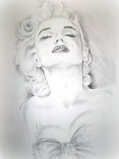 Marilyn Monroe by ~JeSuUx on deviantART || This image first pinned to Marilyn Monroe Art board, here: http://pinterest.com/fairbanksgrafix/marilyn-monroe-art/ ||