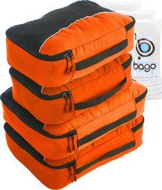 Packing Cubes 4pcs Value Set for Travel - Plus 6pcs Luggage Organizers Zip Bags #packingcubes #cubes #packing #packingorganizer #freezipbag
