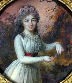 Louis Lié Périn Salbreux portrait miniature