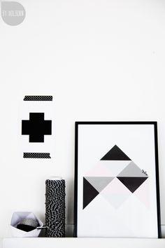 Via Holborn   Black White Grey   Charlotte+ Rocket Print   Plus