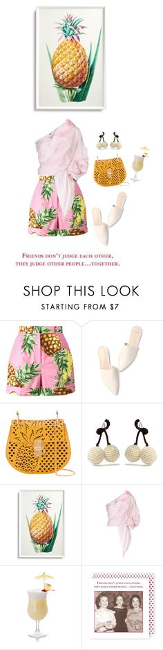 """""""do you like Piña colada?"""" by iriadna ❤ liked on Polyvore featuring Dolce&Gabbana, Chloé, Rosie Assoulin, Frontgate, Johanna Ortiz, Shannon Martin, shorts, dolceandgabbana, summerstyle and pineapple"""