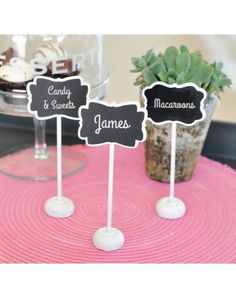 Framed Chalkboard Place Card Stands (set of 12) - Table Numbers & Table Number Holders - Table Accessories
