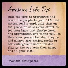 Awesome Life Tip: Keep Good People In Your Life >> www.awesomelifetips.com
