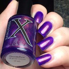 Baroness X - Doomfire: Group Custom December 2015 (Restock Set) How To Grow Nails, Nail Polish Collection, Fun Nails, Nice Nails, Finger, Nail Designs, Blush, Purple, Pretty