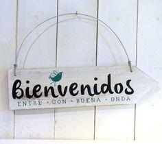 Cartel vintage flecha | Bienvenidos pajarito - comprar online Pallet House, Pallet Art, Cool Fonts, Ideas Para, Wood Projects, Decoupage, Diy And Crafts, Sweet Home, Room Decor