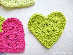 My Rose Valley: Sweet Heart Crochet Pattern Love Crochet, Crochet Motif, Diy Crochet, Crochet Designs, Crochet Flowers, Crochet Stitches, Crochet Patterns, Crochet Hearts, Crochet Embellishments