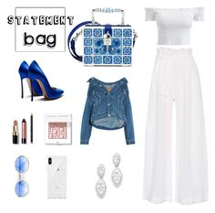 """""""statement bag; arm candy"""" by mia1995fashionlover ❤ liked on Polyvore featuring Dolce&Gabbana, Three Graces, Balenciaga, Bobbi Brown Cosmetics, Bloomingdale's, Moschino, Rebecca Minkoff and statementbags"""