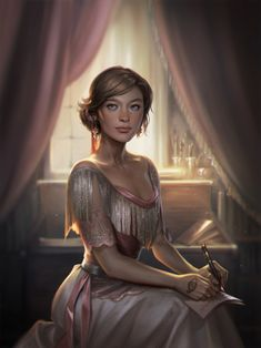 Cassandra Clare — Lucie Herondale! By Charlie Bowater, part of her...