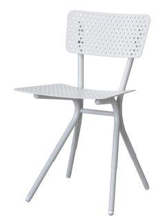 "Chaise ""Grasshopper"" T by Tectona - Ivoire mat /// ""Grasshopper"" chair T by Tectona - Matt ivory"