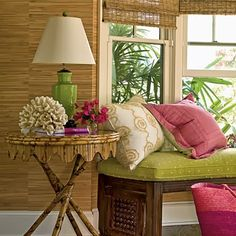 the green & pink cottage .. X ღɱɧღ || Eye For Design: Decorating Your Home With The Pink/Green Combination