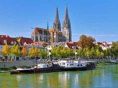 Beauriful view of Regensburg Cathedral, a hidden gem in Germany | 10 Hidden Tourist Gems In Germany You Didn't Know About