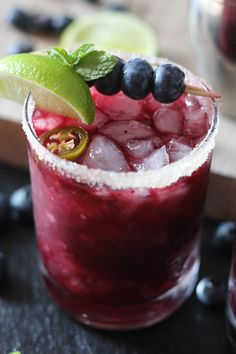 Revel Avila Blanco would add personality to this. Blueberry Jalapeno Margaritas