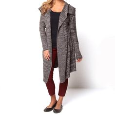 @Overstock.com - Covered by Suss Women's 'Brittany' Charcoal Open-front Cardigan - Stay warm and stylish in this women's charcoal-gray open-front cardigan. This knitted long-sleeve cardigan is great for casual fall ensembles. The rayon-and-nylon construction is comfortable, and the oversized spread collar is trendy.  http://www.overstock.com/Clothing-Shoes/Covered-by-Suss-Womens-Brittany-Charcoal-Open-front-Cardigan/7595497/product.html?CID=214117 $52.99