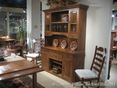 Dining room hutch with plate rack- Country Willow Furniture