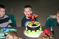 First try with marshmallow fondant....Ben 10 Birthday Cake