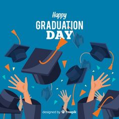 Happy students with flat design celebrating graduation Free Vector - Graduation pictures,high school Graduation,Graduation party ideas,Graduation balloons Happy Graduation Day, Design Plano, Graduation Balloons, Graduation Pictures, Presentation Design, Flat Design, Wall Prints, Beautiful Day, Adobe Illustrator
