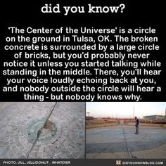 the centre of the universe. At night they also have an interactive step on light up sidewalk>> Yeah awesome! The More You Know, Did You Know, Cool Places To Visit, Places To Go, Funny Memes, Jokes, Wtf Fun Facts, Random Facts, Random Stuff
