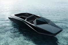 Image 1 of 2 from gallery of Zaha Hadid designs Z Boat for American Art Dealer. Courtesy of Zaha Hadid Architects/ Kenny Schachter-ROVE Zaha Hadid Design, Architectes Zaha Hadid, Zaha Hadid Architects, Yacht Design, Boat Design, Design Transport, Boat Transport, Rc Boot, Le Manoosh