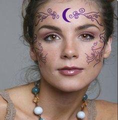 Looking for war paint designs. House Of Night, Facial Tattoos, Celtic Goddess, Celtic Wedding Rings, Fantasy Makeup, War Paint, Paint Designs, Face Shapes, Love Art