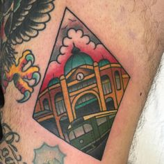 Bit warpy on the inner thigh! #melbourneforever | Clare Clarity Tattoo