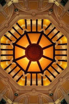 The Rotunda ceiling at the Tokyo Station