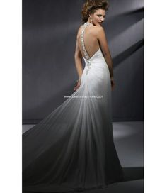 I want this dress! (Reese back)    Maggie Sottero Quick Delivery Wedding Dresses - Style Reese A3240    Description: Buy Spring 2009 Maggie Sottero Wedding Dresses at Best Bridal Prices. One-piece, slim line gown with zipper closure. Scintillating… Smashing… Striking! Gossamer Chiffon is ruched toward an extraordinarily beaded, deep V-neckline. The high-glamor encrusted halter straps transform into a sensational bar back treatment.     Fabric: Extraordinary beaded   Price: $889.00