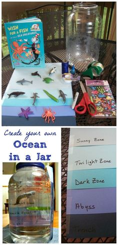 Ocean Habitat Project: Zones, Sea Animals & Deep Sea Creatures Make your own ocean habitat with this fun craft for kids - learn about ocean zones and where marine animals live and swim. Great for an Ocean Unit or study on marine life -- fun for summer cam Animal Activities For Kids, Summer Camp Activities, Preschool Activities, Summer Camps For Kids, Ocean Projects, Projects For Kids, Art Projects, Science Projects, Kid Cudi