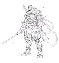 """Batman Samurai"" By Hicham Habchi. Game Character Design, Character Sketches, Comic Character, Character Concept, Batman Ninja, Im Batman, Batman Art, Spiderman, Comic Book Artists"