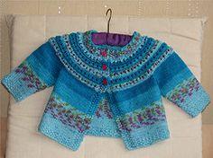 Ravelry: Eyelet Yoke Cardigan pattern by Sarah Hoadley Knitting For Kids, Baby Knitting Patterns, Baby Patterns, Knitting Yarn, Free Knitting, Only Cardigan, Cardigan Bebe, Cardigan Pattern, Knit Baby Sweaters